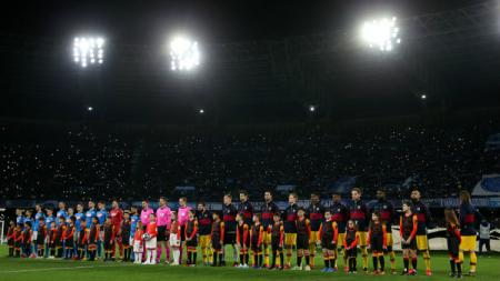 Pemain Barcelona, Clement Lenglet, mengatakan bahwa timnya wajib fokus penuh untuk bisa memenangkan pertandingan Liga Champions 2019-2020 melawan Napoli. - INDOSPORT