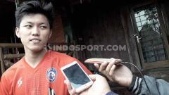 Indosport - Antusiasme Winger muda Persija Jakarta, Feby Eka Putra sama sekali tak berkurang untuk Arema FC