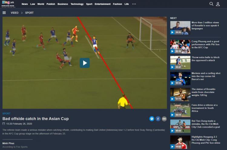 Media Vietnam Kutuk Wasit Laga Svay Rieng vs Bali United di Piala AFC Copyright: news.zing.vn