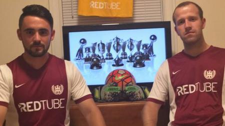 Jersey klub Amerika Serikat, Washington Square FC, memiliki sponsor situs dewasa. - INDOSPORT