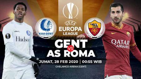 Link live streaming pertandingan leg kedua babak 32 besar Liga Europa antara KAA Gent vs AS Roma. - INDOSPORT