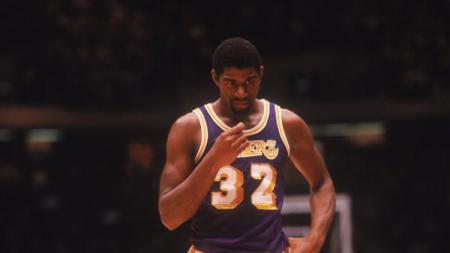 Earvin Magic Johnson, salah satu legenda NBA milik LA Lakers. - INDOSPORT