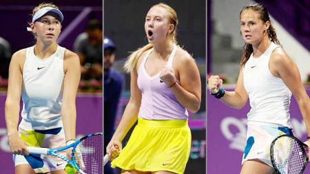 Tiga petenis calon penerus Maria Sharapova; Amanda Anisimova, Anastasia Potapova, Daria Kasatkina. - INDOSPORT