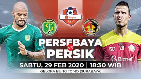Pertandingan pembukaan Liga 1 2020 antara Persebaya Surabaya vs Persik Kediri bisa disaksikan melalui layanan live streaming. - INDOSPORT