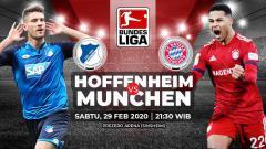 Indosport - Prediksi pertandingan antara Hoffenheim vs Bayern Nunchen (Bundesliga).