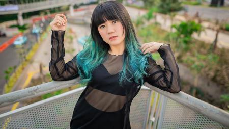 Eks member JKT48, Cindy Gulla kedapatan mengajak para netizen untuk kembali gowes mengingat tren bersepeda di tengah pandemi ini sudah mulai menurun. - INDOSPORT