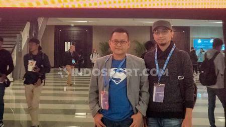 Nur Anasta Rahmat (kiri) dan Arief D. Laksono (kanan) dari Asosiasi Praktisi SEO Indonesia (APSI) usai memaparkan materi di SEO Conference 2020. - INDOSPORT