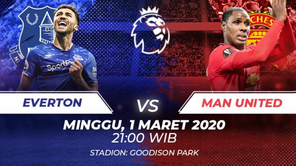 Link Live Streaming Liga Inggris Everton Vs Manchester United Indosport