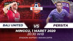 Indosport - Bali United akan menjamu Persita Tangerang dalam laga lanjutan Liga 1 pekan ke-1 yang akan dilangsungkan pada hari ini, Minggu (1/3/2020) pukul 20.30 WIB.
