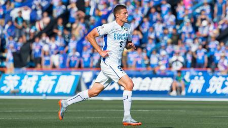 Pelatih klub Liga 1 Persik Kediri, Joko Susilo belum bisa memberikan garansi kepada Nikola Asceric untuk bermain pada posisi inti ketika menjamu Bhayangkara FC. - INDOSPORT