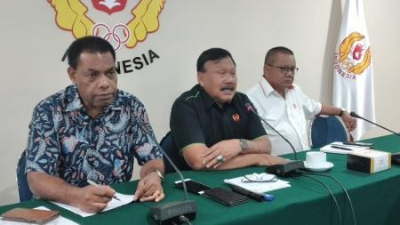 Komite Olahraga Nasional Indonesia (KONI) bersama PB PON akhirnya telah menetapkan pembagian venue cabang olahraga untuk PON XX di Papua. - INDOSPORT