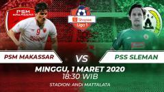 Indosport - Berikut ini merupakan prediksi pertandingan PSM Makassar vs PSS Sleman di kompetisi Shopee Liga 1 2020, yang akan dihelat di Stadion Andi Mattalata.