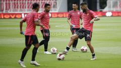 Indosport - Official training Borneo FC di Stadion GBK Senayan, Jakarta, beberapa waktu lalu.