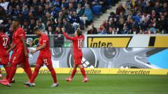 Indosport - Hasil Liga Jerman Hoffenheim vs Bayern Munchen: Bavarian Pesta Enam Gol