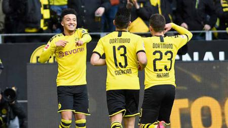 Tak kunjung dibayar juga meskipun Manchester United layangkan ketertarikan dengan Jadon Sancho, Borussia Dortmund ambil inisiatif bergerak lebih dulu. - INDOSPORT
