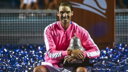 Rafael Nadal meraih gelar di ATP Meksiko Terbuka 2020. - INDOSPORT