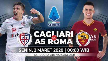 Pertandingan Cagliari vs AS Roma di lanjutan Serie A Liga Italia, Senin (2/3/20) dini hari WIB, bisa disaksikan melalui layanan live streaming. - INDOSPORT