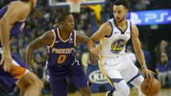 Indosport - Stephen Curry di laga NBA Golden State Warriors vs Phoenix Suns.