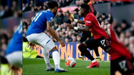 Situasi pertandingan Liga Inggris antara Everton vs Manchester United, Minggu (01/03/20). - INDOSPORT