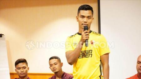 Kiper klub Liga 1, PSM Makassar, Miswar Saputra. - INDOSPORT