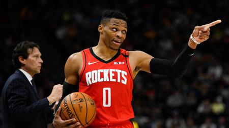 Russell Westbrook, bintang basket NBA dari tim Houston Rockets. - INDOSPORT