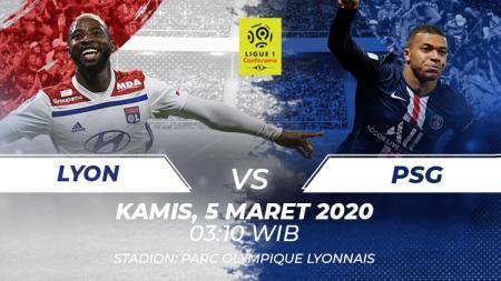 Lyon vs PSG. - INDOSPORT