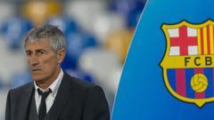 Indosport - Quique Setien, pelatih klub Liga Spanyol, Barcelona