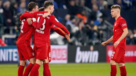 Bayern Munchen merayakan kemenangan mereka atas Schalke 04 di DFB Pokal - INDOSPORT