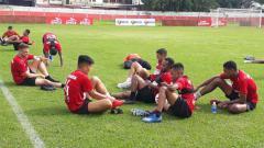 Indosport - Para Pemain Persipura Jayapura usai menjalani sesi latihan beberapa waktu lalu.