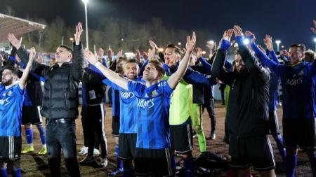 Saarbrucken, klub dari divisi empat Bundesliga Jerman mencatatkan rekor sebagai klub pertama dari divisi empat yang mampu menembus semifinal DFB Pokal. - INDOSPORT