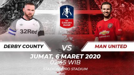 Susunan Pemain Pertandingan Piala FA Derby County vs Manchester United: Rooney Siap Beraksi. - INDOSPORT