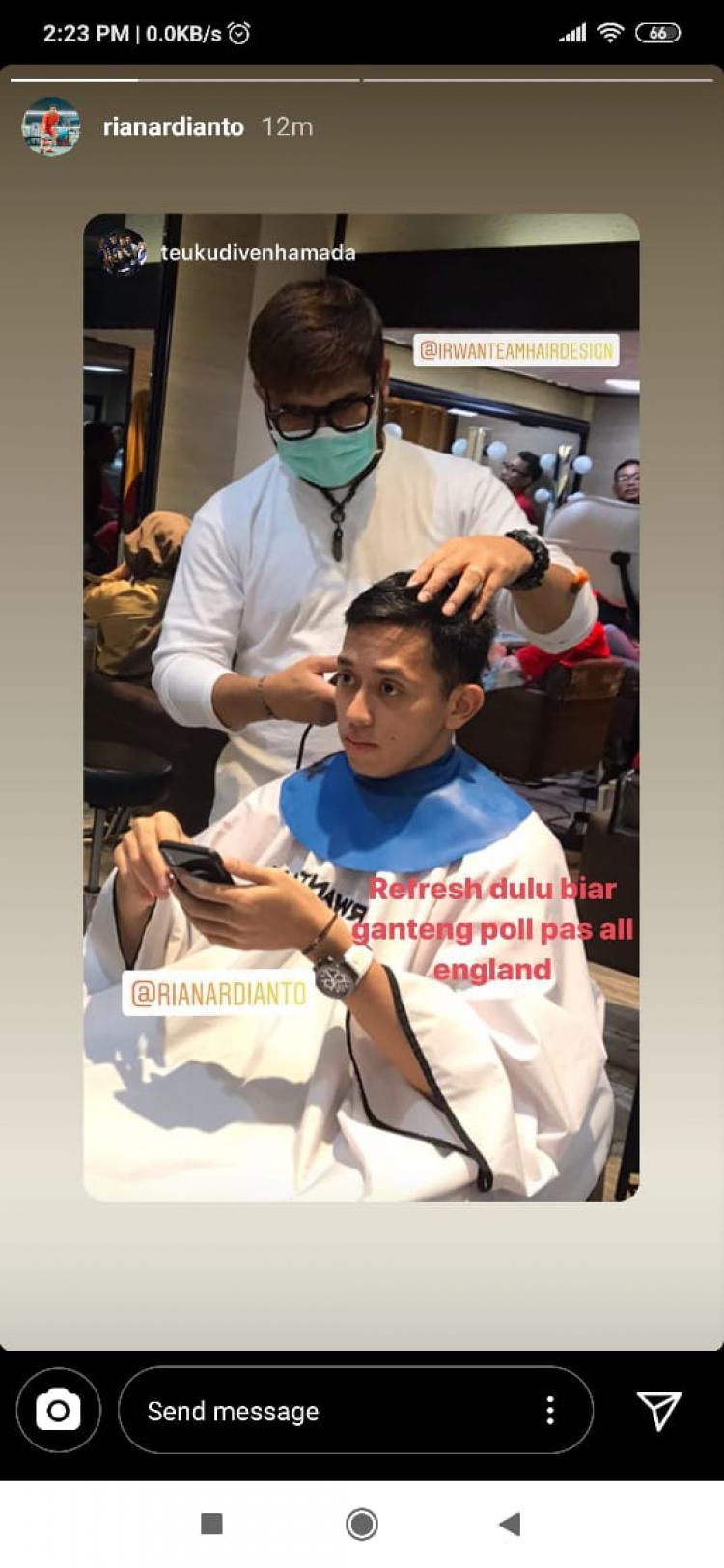 Gaya rambut baru Rian Ardianto. Copyright: Instagram/rianardianto