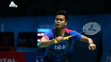 Tontowi Ahmad di BWF Dubai World Superseries Finals 2016 silam. - INDOSPORT