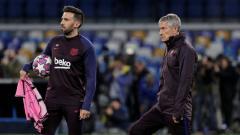 Indosport - Asisten pelatih sepak bola Barcelona, Eder Sarabia (kiri), menceritakan keluhannya lantaran Spanyol mengalami lockdown dan masyarakat wajib menjalani karantina.