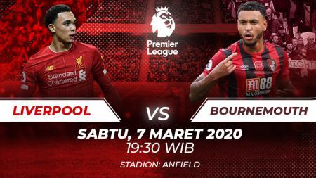 Pertandingan pekan ke-29 Liga Inggris antara Liverpool vs Bournemouth bisa disaksikan melalui layanan live streaming. - INDOSPORT