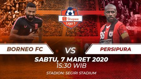 Hasil pertandingan Liga 1 2020 pada pekan kedua antara Borneo FC vs Persipura Jayapura. - INDOSPORT