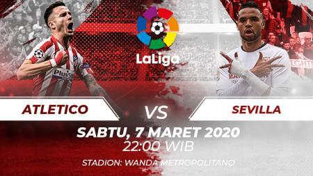 Berikut tersaji link live streaming pertandingan sepak bola Atletico Madrid vs Sevilla di pekan ke-27 kompetisi LaLiga Spanyol 2019-2020. - INDOSPORT