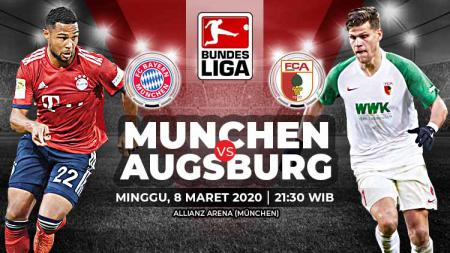 Berikut link live streaming pertandingan Bundesliga antara Bayern Munchen vs Augsburg yang akan diselenggarakan pada Minggu pukul (08/03/20) pukul 21.30 WIB. - INDOSPORT