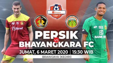 Pertandingan sepak bola Shopee Liga 1 2020 pekan ke-2 antara Persik Kediri vs Bhayangkara FC bisa disaksikan melalui layanan live streaming. - INDOSPORT