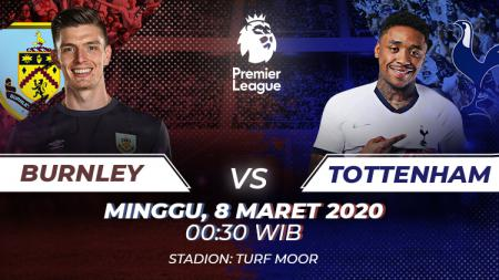 Pertandingan antara Burnley vs Tottenham (Liga Primer). - INDOSPORT
