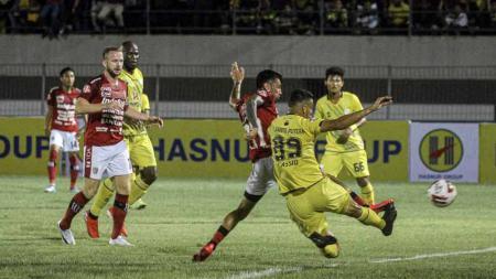 Pertandingan antara Barito Putera vs Bali United, pada Liga 1 di Stadion Demang Lehman, Martapura, Jumat (06/03/20). - INDOSPORT