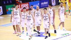 Indosport - Indonesia Patriots pada Seri I Indonesia Basketball League (IBL) 2021.