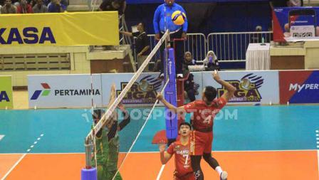 Palembang Bank Sumselbabel (PBS) versus Jakarta Garuda dalam seri dua Proliga 2020 pada Sabtu (07/03/20) di GOR C-Tra Arena, Bandung.