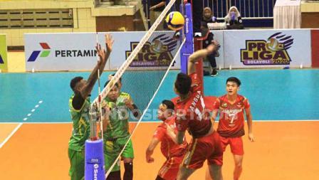 Sempat agresif di set kedua, Jakarta Garuda harus mengakui keunggulan Palembang Bank Sumselbabel.