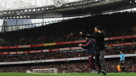 Mikel Arteta bersyukur Arsenal menang atas Norwich City di Liga Inggris. - INDOSPORT