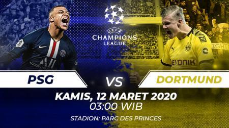 Link Live Streaming Pertandingan Liga Champions: PSG vs Dortmund. - INDOSPORT