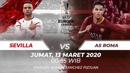 Leg pertama babak 16 besar Liga Europa akan mempertemukan antara Sevilla melawan AS Roma, Jumat (13/3/20). Berikut prediksi lengkap pertandingannya. - INDOSPORT