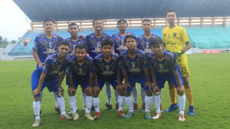 Aditya Ramadhan (kanan atas) saat bersama timnya PSSA Asahan. Aditya dipanggil untuk mengikuti TC Timnas Indonesia U-16. - INDOSPORT