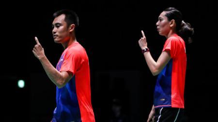 Inilah momen ketika pasangan ganda campuran, Hafiz Faizal/Gloria E. Widjaja sukses membuat peraih medali Olimpiade Rio 2016 mati kutu. - INDOSPORT