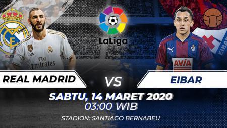 Prediksi pertandingan LaLiga Spanyol pada pekan ke-28 antara Real Madrid vs Eibar. - INDOSPORT